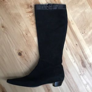 Gucci Black Suede Boots Size 8